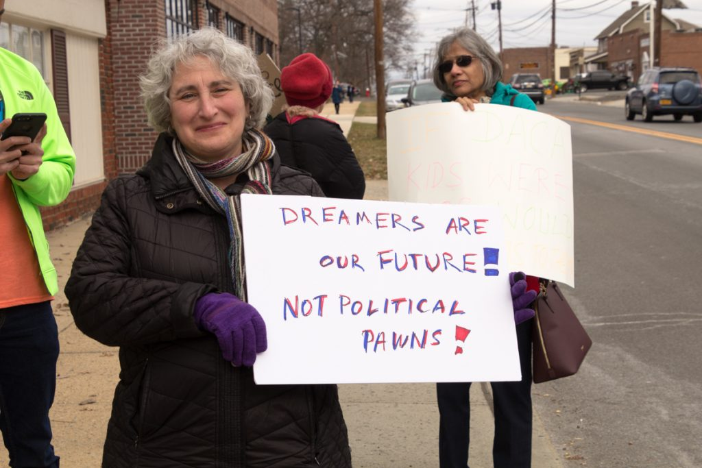 Woman with Dream sign