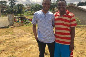 Mohamed Nabieu and Dr. Steven Aruna in Sierra Leone, alumni of the CRC